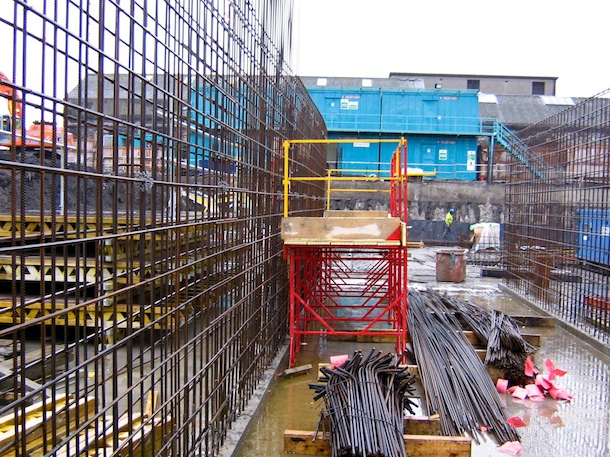 02 Steel Fixing - following the success of SafeStand Access Systems with the brickwork trades, it is now being used regularly for structural works such as Steel Fixing and Concrete Placement..